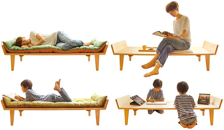 Nap sofa, break, lie down, sofa, like bed, Scandinavian, table, utilization, lifelong