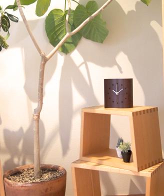 Mine clock (small) Walnut / Image placed / Nesting stool / Table clock / Wall clock