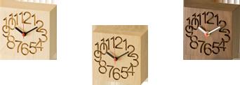 MUKU Clock (Small) Maple / Nara / Walnut / Cute / Fashionable / Cool / Table Clock / Wall Clock