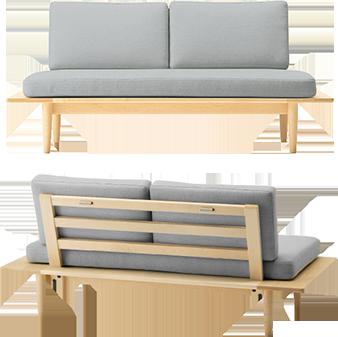 Pratt sofa / Plat Ottoman / Maple / Walnut / Living sofa / Cushion color order / 2 tree species development