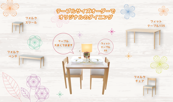 Original dining by table size order