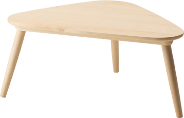 Trico center table, center table, telework, work desk, triangle, desk, living table, dining table, living wire, solid wood, simple, scandinavian