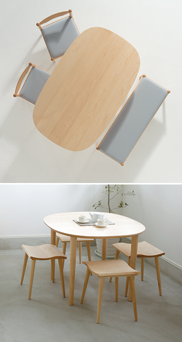 Natural warm dining with plenty of wood texture