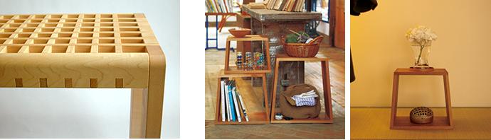 KOHSHI stool and nested stool [set of 3] Example of use