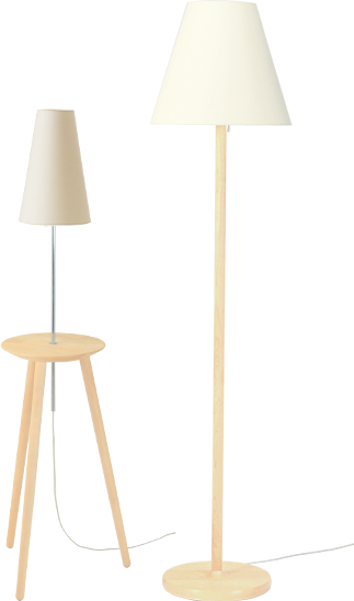 Floor stand [round] and lamp table