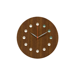 Wall clock (color) Walnut