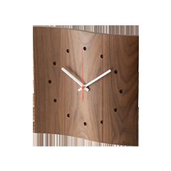 Mine wall clock Walnut